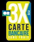 Paiement en 3 x sans frais à partir de 300 € avec notre partenaire FIA-NET S.A.